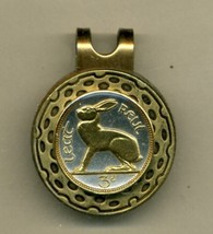 Ireland 3 pence (Rabbit) 2-Toned Gold on SilverGold on Silver coin golf... - $55.00
