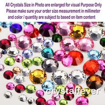 144Pcs Swarovski Crystal Mulit Color SS4/6/8/10 Non Hotfix Flatback Rhin... - $3.65+