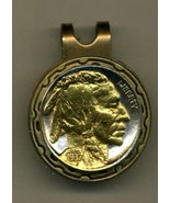 Indian head nickel 2-Toned Gold on Silver coin golf marker - $70.00