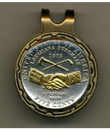 """New Jefferson nickel """"Peace Medal"""" Gold on Silver coin golf marker - $70.00"""