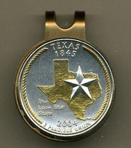 State of Texas 2-Toned Gold on Silver coin golf marker - $62.00
