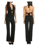New & sexy  Open back halter  jumpsuit  color  black( XS, S, M, L) - $28.14