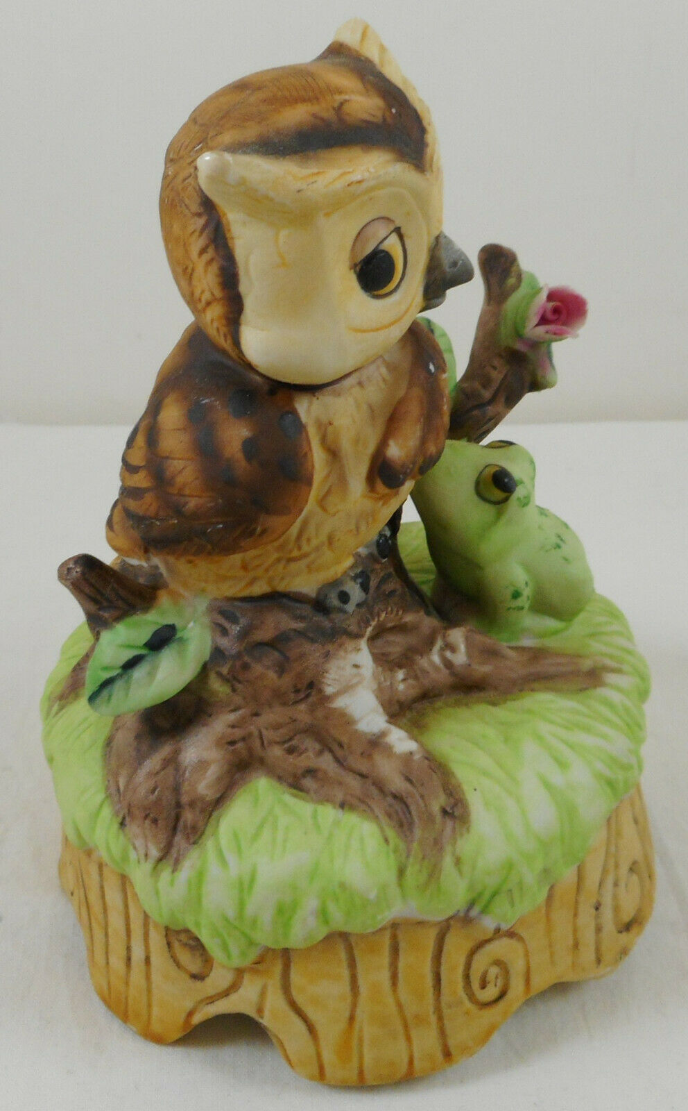 Ceramic Vintage Owl Music Box Sound Of Music