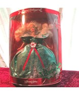 1995 Holiday Barbie Repack'd Emerald Green Satin Holly Berries Victorian... - $19.99
