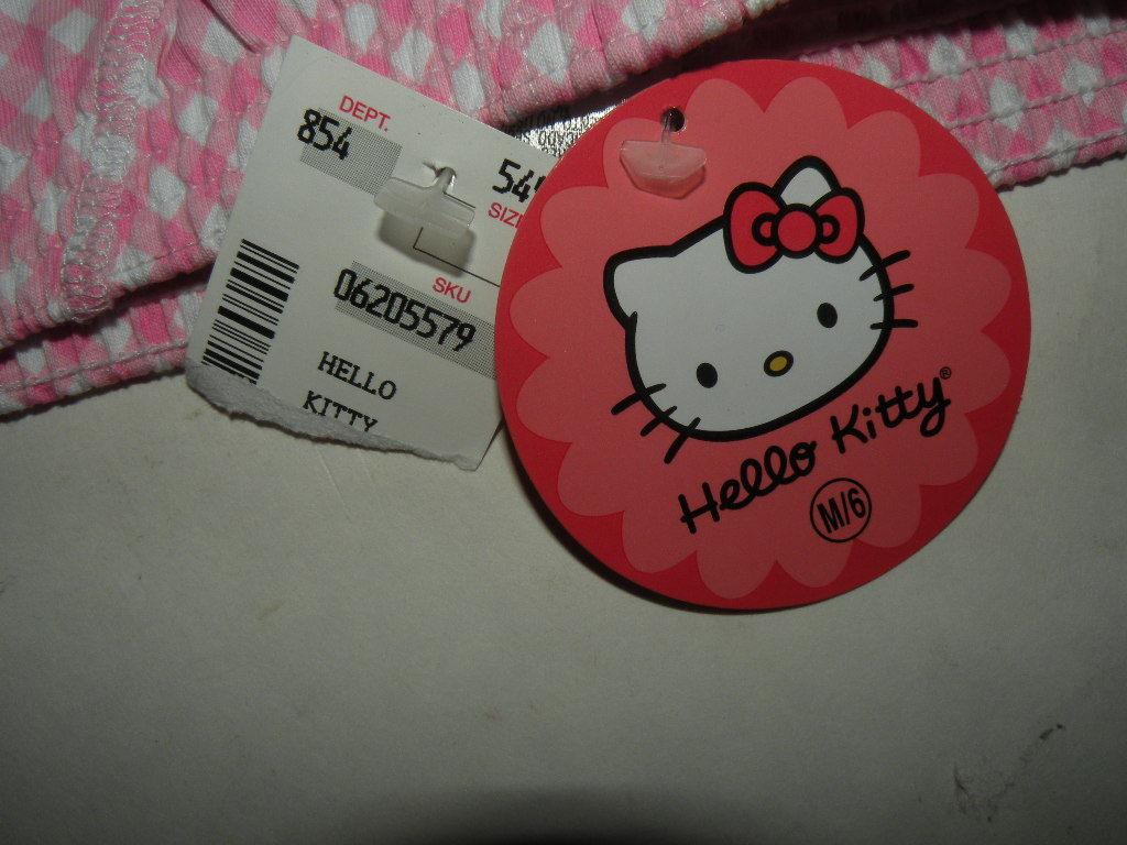 SOLD TO DISNEY...Hello kitty sleep shorts M/6 PINK NWT