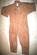 Nwt Us Air Force Tan Nomex Fire Resistant Flight Suit Cwu 27/P Khaki   44 L #2 - $113.85