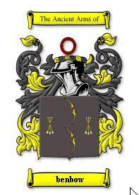BENBOW SURNAME COAT OF ARMS PRINT - GENEAL Bonanza