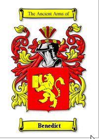 BENEDICT SURNAME COAT OF ARMS PRINT - GENEAL Bonanza