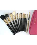Professional MAC Brush Set Pink Zipper Case with Gold Trim Logo - $120.00