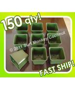 "150 Plastic Flower Pots + 5 Plant LABELS! BEST Nursery Seed Starts 3.5"" ... - $26.95"