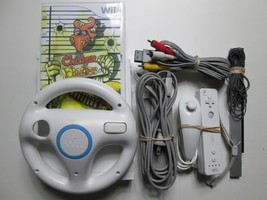 Nintendo Wii Console Lot Video Game System W/Game - Tested & Works Great! - $69.99