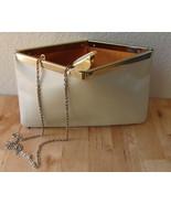 Vintage ETRA Convertible Genuine Leather Cream White Envelope Clutch Bag... - $39.95