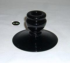 Fenton Black no. 318 Candlesticks pair Vintage image 2