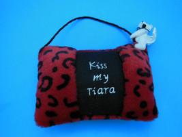 "Boyds Bear Pillow 4"" x 6"" with 2.5"" Bear Kiss My Tiara - $7.61"