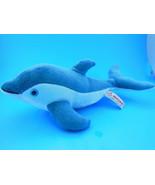 "Blue Dolphin Plush with Blue Eyes Aurora 13"" Elegant - $9.94"