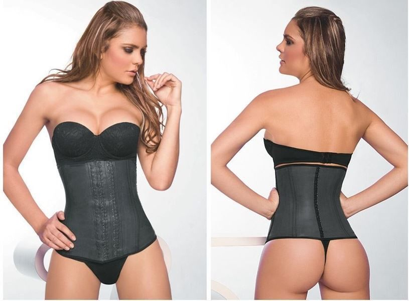 Primary image for ANN CHERY 2025 Waist CINCHER GIRDLE Body Shaper Latex BLACK SIZE M/34