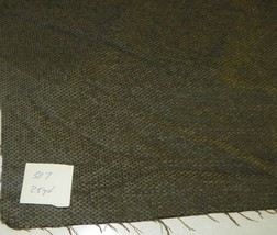 Dark Green Tweed Chenille Upholstery Fabric 1 Yard  R307 - $29.95
