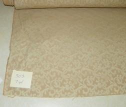 Tan Cream Print Damask Upholstery Fabric 1 Yard  R303 - $29.95
