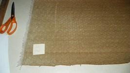 Beige Tan Circle Print Chenille Upholstery Fabric 1 Yard  R301 - $29.95