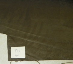 Dark Olive Green Suede Upholstery Fabric 1 Yard  R305 - $29.95