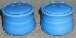 Metlox Colorstax SKY BLUE COLOR Salt and Pepper Set MADE IN CALIFORNIA - $29.69
