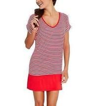 Jag Swimwear M Bel-Air Stripe Pull On Dress Coverup Red White JGSS4046 $... - $7.92