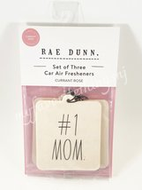 Rae Dunn #1 Mom Set of 3 Car Air Fresheners Currant Rose Scent - $12.00