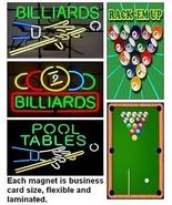 5 Billiards - Pool Magnets - $18.95