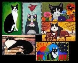 Tuxedo Cats - Set of 6 Magnets - $19.99
