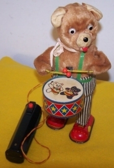 Primary image for Vintage Battery Operated Barney Bear Drummer Toy