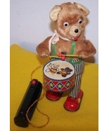 Vintage Battery Operated Barney Bear Drummer Toy - £80.98 GBP