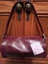 Merona red/burgundy handbag with unique design  - $12.87