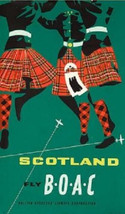 Fly BOAC - Scotland - BOAC Airlines Magnet - $7.49