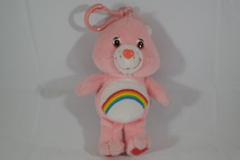 "Vintage Care Bears PINK CHEER BEAR 5"" KEYCHAIN ... - $14.84"