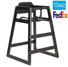 New Restaurant Style Wooden High Chair  + $10 Rebate Only $35.00 FREE SHIPPING - $64.55