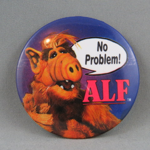 New Rare 80/'s Button Pin Alien Life Form TV Cool RETRO Badges /& Magnets ALF