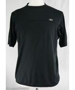 Reebok M Medium Black Gray Trim Knit Shirt Cycling Jersey - $22.00