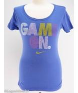 NIke Medium Slim Fit Game On T Shirt Purple Scoop Neck - $19.94