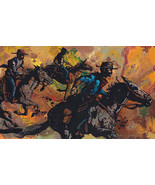 Out Riders by Cody Kuehl Western Art Cowboys on Horse Back Signed Canvas... - $375.21