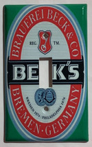 BECK's Beer Logo Light Switch GFI Outlet wall Cover Plate Home Decor image 1