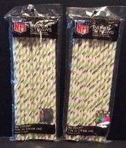 Seattle Seahawks NFL Paper Drink Straws Party 2 Packages 48 Count Football - $8.52
