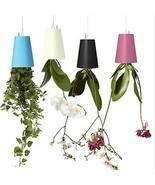 UPSIDE DOWN PLANT HOLDER POT HANGING SKY PLANTERS PLANT HOLDER POT CEILING - £9.44 GBP