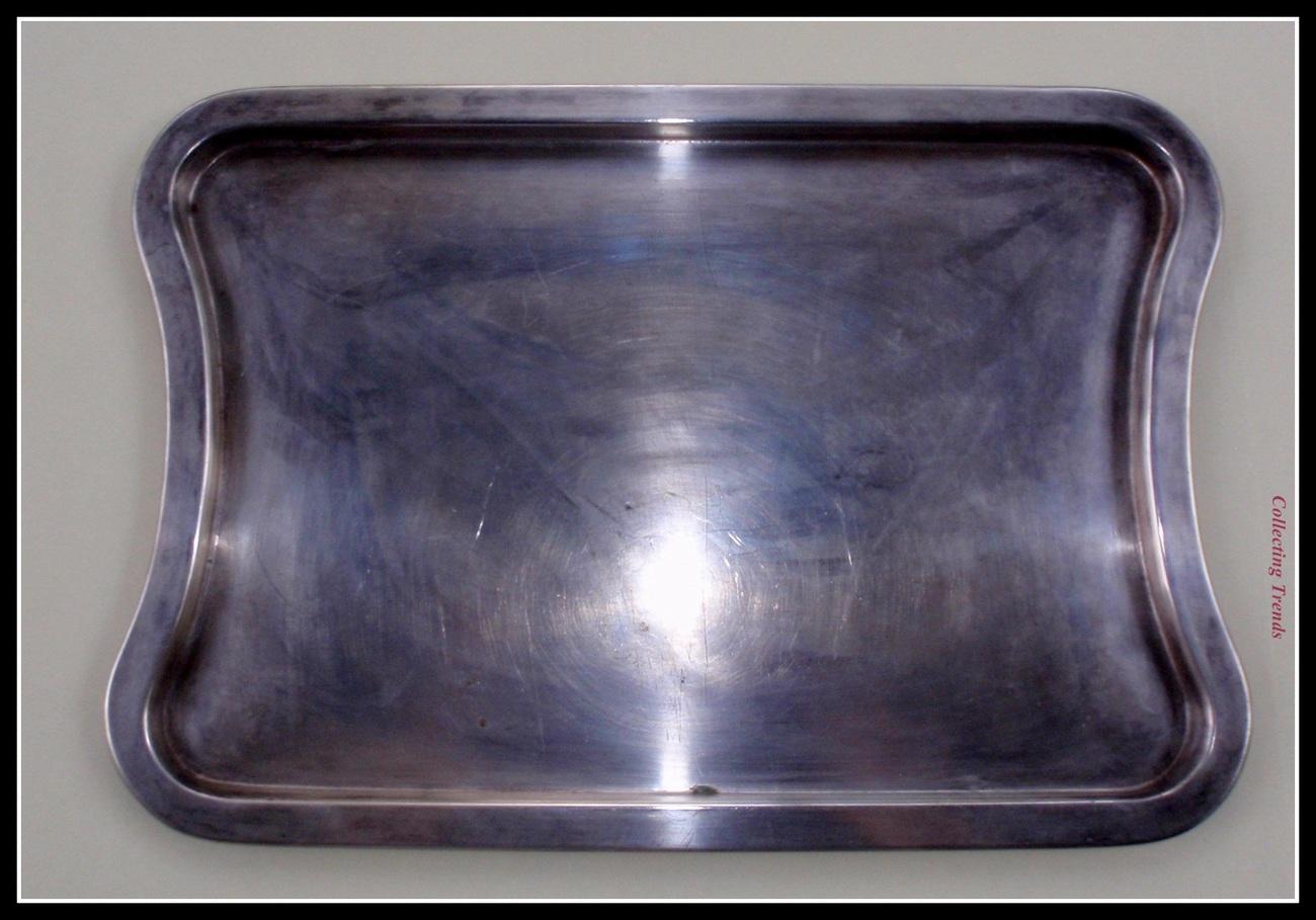 RADAD Vintage '50's Rectangle Serving Metal Tray Platter Fully Marked Israel