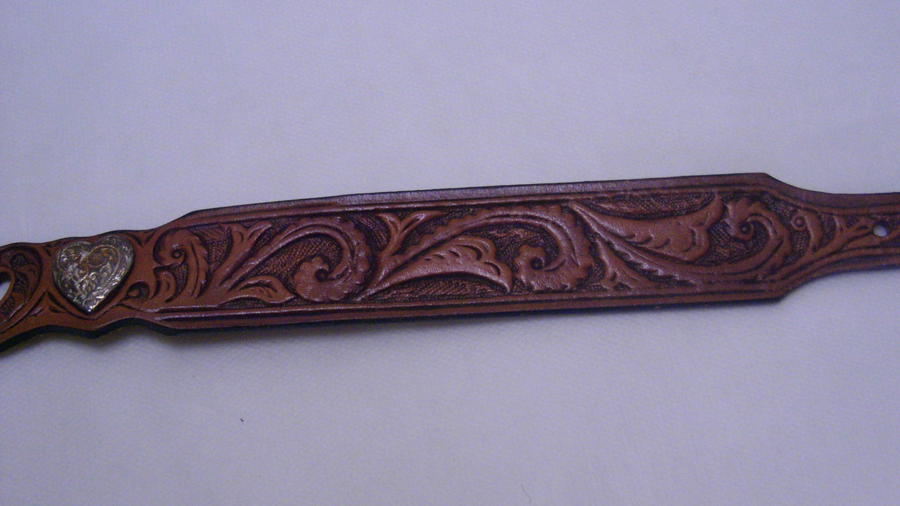 Silver Creek Collection by Leegin Brighton Embossed Brown Leather Belt Size 30