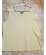 Designer's Originals Bright Yellow Camisole Top   Size  Large 80 % cotto... - $5.99