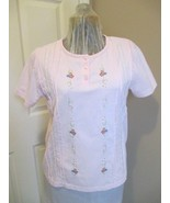 Pink Top with Embroidery Details  Label has been removed.  Not sure if t... - $12.99
