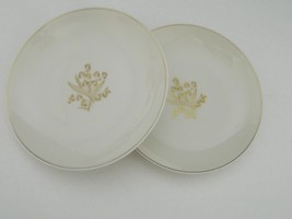 "Castleton China USA 2 Bread & Butter plates ""Golden Meadow"" by Philip Co... - $9.85"