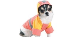 Storm Hooded Dog Waterproof Coat Jacket Peach Color S L XL Size by Casua... - $7.95+