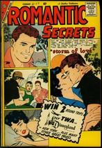 Romantic Secrets #25 1960- Charlton Romance- Spicy art FN - $50.44
