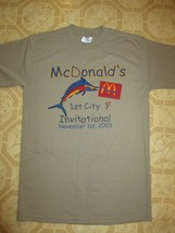 McDonalds 1 st City Invitational 2003 Medium Tee Marlin Logo on front   House of - $12.99